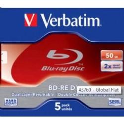 VERBATIM BD-RE DL (5-pack)Blu-Ray/Jewel/2x/50GB 43760