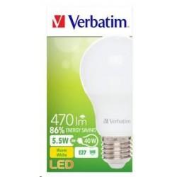VERBATIM LED žárovka,LED Classic A E27 5,5W 2700K WW 470LM 52631