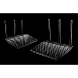 ASUS RT-AC67U (2-pack) Gigabit Dualband Wireless AC1900 Router,...