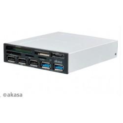 """AKASA Čtečka karet  AK-ICR-16 do 3,5"""", 5-slotová, 3x USB 2.0, 2x..."""