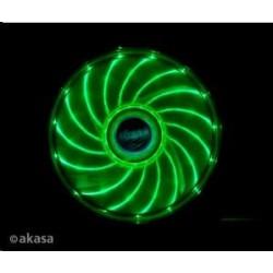 AKASA Ventilátor Vegas 120x120x25mm, 1200RPM podsvícený, 15xLED, zelený AK-FN091-GN
