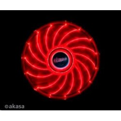AKASA Ventilátor Vegas 120x120x25mm, 1200RPM podsvícený, 15xLED, červený AK-FN091-RD