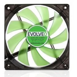EVOLVEO 12L1GR ventilátor 120mm, 4 LED zelený, 3pin FAN 12 GREEN