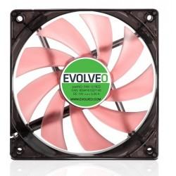 EVOLVEO 12L1RD ventilátor 120mm, 4 LED červený, 3pin FAN 12 RED