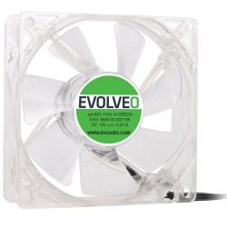 EVOLVEO 14L1GR ventilátor 140mm, 4 LED zelený, 3pin FAN 14 GREEN