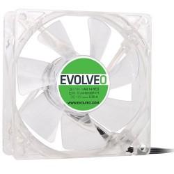 EVOLVEO 14L1RD ventilátor 140mm, 4 LED červený, 3pin FAN 14 RED