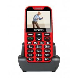 EVOLVEO EasyPhone XD, mobilní telefon pro seniory s nabíjecím stojánkem (červená barva) EP-600-XDR