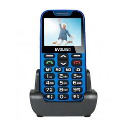 EVOLVEO EasyPhone XD, mobilní telefon pro seniory s nabíjecím stojánkem (modrá barva) EP-600-XDL