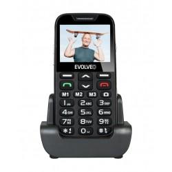 EVOLVEO EasyPhone XD, mobilní telefon pro seniory s nabíjecím stojánkem (černá barva) EP-600-XDB