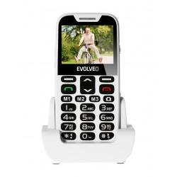 EVOLVEO EasyPhone XD, mobilní telefon pro seniory s nabíjecím stojánkem (bílá barva) EP-600-XDW