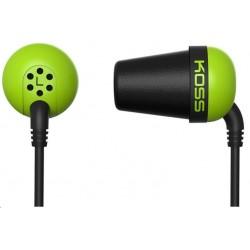 KOSS sluchátka THE PLUG zelená, sluchátka do uší, bez kódu THE PLUG...