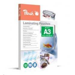 Peach Laminating Pouch A3 (303x426mm), 80mic, PPR080-01 510418