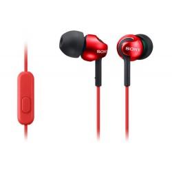 SONY stereo sluchátka MDR-EX110AP, červená MDREX110APR.CE7