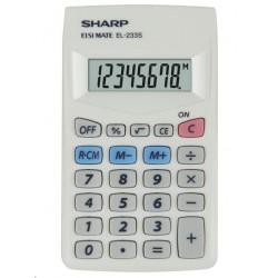 SHARP kalkulačka - EL-233S - Bílá SH-EL-233S