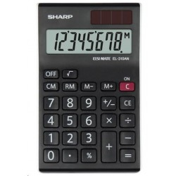 SHARP kalkulačka - EL-310ANWH - černá SH-EL310ANWH
