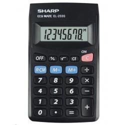 SHARP kalkulačka - EL-233SBBK - blister SH-EL233SBBK