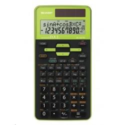 SHARP kalkulačka - EL531TGGR - zelená - box - Solární + baterie...