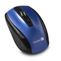 CONNECT IT Bezdrátová optická myš, modrá CI-1225