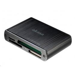 AKASA Multi-čtečka paměťových karet, externí, USB 3.0 AK-CR-08BK
