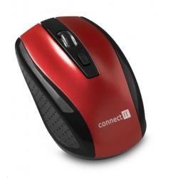 CONNECT IT Bezdrátová optická myš, červená CI-1224