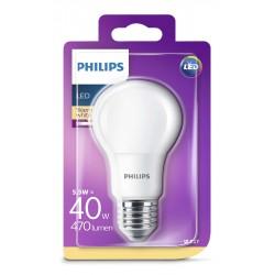 PHILIPS LED žárovka klasická A60 230V 5,5W E27 noDIM Matná 470lm 2700K Plast A+ 15000h (Blistr 1ks) 929001234217