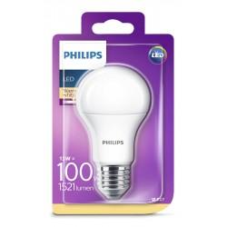 PHILIPS LED žárovka klasická A60 230V 13W E27 noDIM Matná 1521lm 2700K Plast A+ 15000h (Blistr 1ks) 929001234517