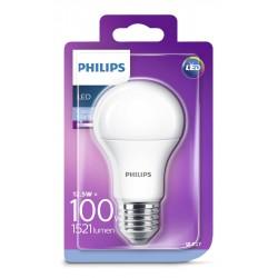 PHILIPS LED žárovka klasická A60 230V 12,5W E27 noDIM Matná 1521lm 6500K Plast A+ 15000h (Blistr 1ks) 929001312501