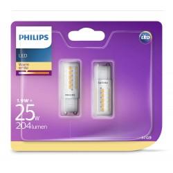 PHILIPS LED žárovka kapková 230V 1,9W G9 noDIM 204lm 2700K A++ 15000h (Blistr 2ks) 929001323831