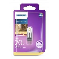 PHILIPS LED žárovka kapková G4 12V 2W G4 DIM 200lm 2700K A++ 15000h (Blistr 1ks) 929001235358