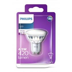 PHILIPS LED Classic žárovka bodová PAR16 120° 230V 4,5W GU10 noDIM 420lm 3000K A+ 15000h (Blistr 1ks) 929001297058