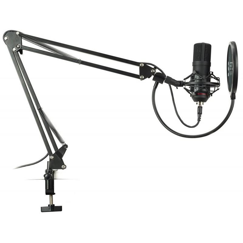 SPC Gear mikrofon SM900 Streaming microphone / USB / polohovatelné rameno / pop filtr / držák proti otřesům SPG026