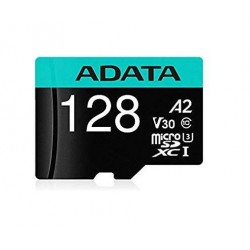 ADATA Micro SDHC karta Premier Pro 128GB UHS-I V30S + SD adaptér,...