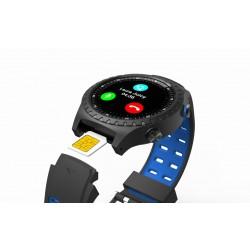 EVOLVEO SportWatch M1S, chytré sportovní hodinky s podporou SIM, modročerný pásek SPW-M1S-BLUE