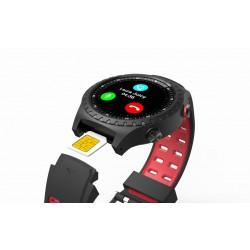 EVOLVEO SportWatch M1S, chytré sportovní hodinky s podporou SIM, červenočerný pásek SPW-M1S-RED