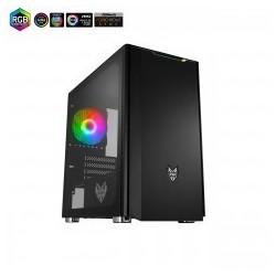 Fortron skříň Micro ATX CST310 Black, průhledná bočnice, 1 x A. RGB...