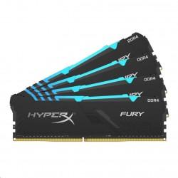 DIMM DDR4 64GB 2666MHz CL16 (Kit of 4) KINGSTON HyperX FURY Black...