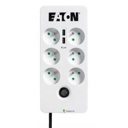 Eaton Protection Box 6 USB FR, přepěťová ochrana, 6 zásuvek, 2x USB nabíječka, 1m PB6UF