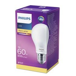 PHILIPS LED žárovka klasická A60 230V 7W E27 noDIM Matná 806lm 2700K Sklo A++ 15000h (Krabička 1ks) 929001243082