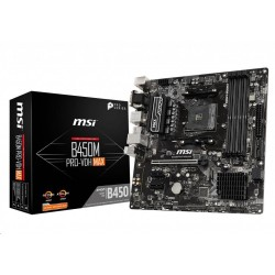 MSI MB Sc AM4 B450M PRO-VDH MAX, AMD B450, 4xDDR4, VGA, m-ATX