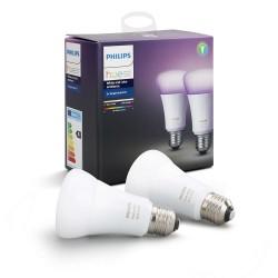 PHILIPS Hue White and color ambiance, 2x žárovka 10W E27 A19 DIM...