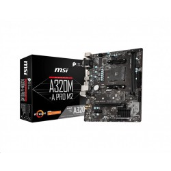 MSI MB Sc AM4 A320M-A PRO M2, AMD A320, VGA, 2xDDR4, m-ATX