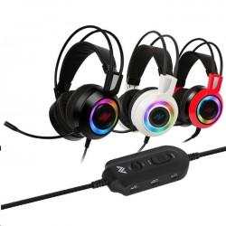 ABKONCORE Herní sluchátka CH60 REAL, 7.1, bílá ABKO-HEADS-CH60-WH-R71