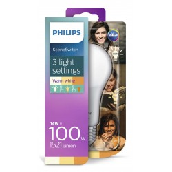 PHILIPS LED žárovka klasická A67 230V 14-7-3,5W E27 noDIM Matná 1521-600-150lm 2700-2500-2200K A+ 15000h 929001336601