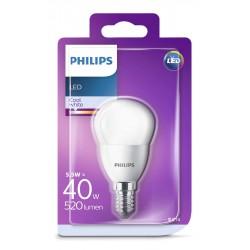PHILIPS LED žárovka iluminační P45 230V 5,5W E14 noDIM Matná 520lm 4000K Plast A+ 15000h (Blistr 1ks) 929001205917