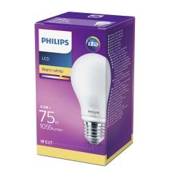 PHILIPS LED žárovka klasická A60 230V 8,5W E27 noDIM Matná 1055lm...