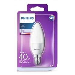 PHILIPS LED žárovka svíčková B35 230V 5,5W E14 noDIM Matná 520lm 4000K Plast A+ 15000h (Blistr 1ks) 929001205817