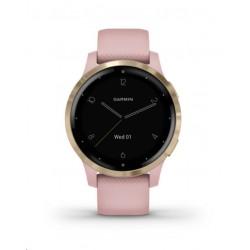 Garmin monitorovací náramek a hodinky vívoactive4S Dust Rose/Light...