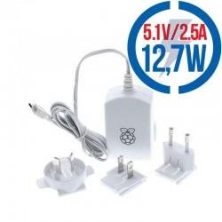 RASPBERRY USB adaptér pre Raspberry Pi 2,5A biely T5875DV