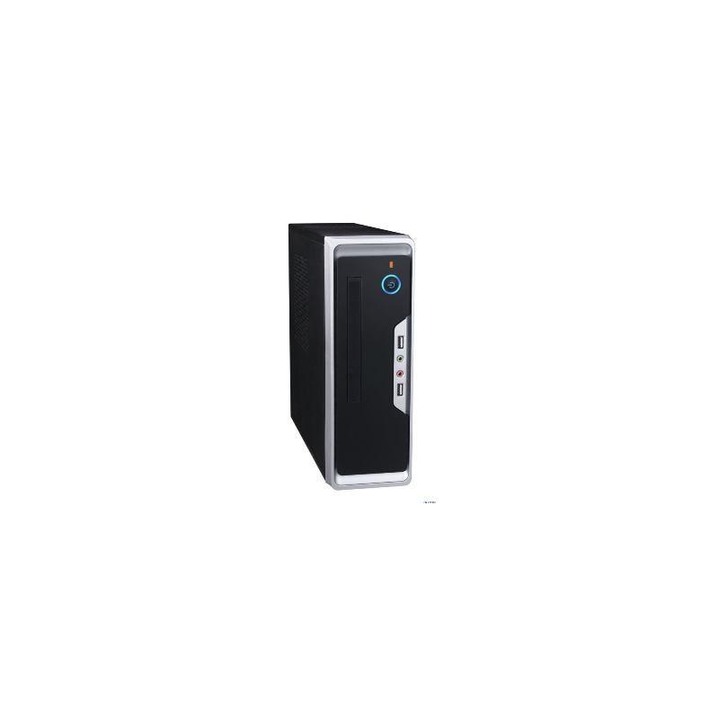 PC skrinka EUROCASE WI-01 mini ITX, USB+audio bez zdroja, čierna ITXWI-01
