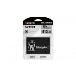 """Kingston 512GB SSD KC600 Series SATA3, 2.5"""" (7 mm) ( r550 MB/s, w520 MB/s )) SKC600/512G"""